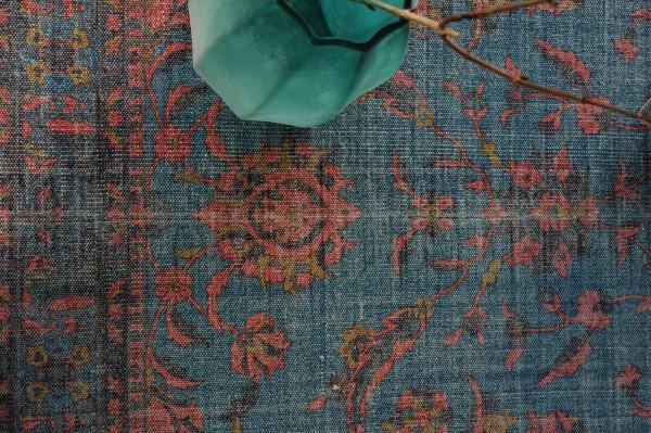 Teppich 'Panaji', blau, rot, T 140 cm, B 200 cm