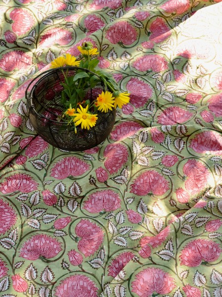 Tischdecke, oliv, T 100 cm, B 100 cm