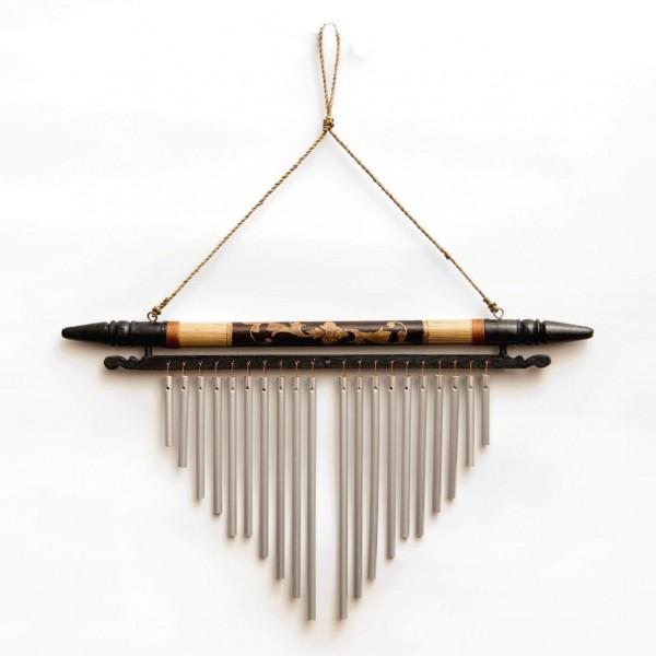 """Windspiel """"Jungle"""", aus Bambus und Aluminium, B 50 cm, H 30 cm"""