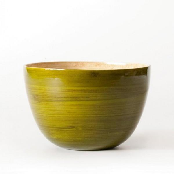 Bambusschale, grün, H 9,5 cm, Ø 14,5 cm