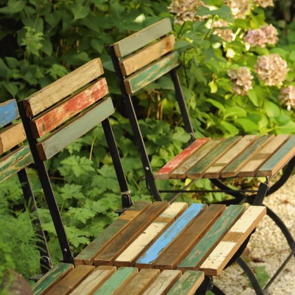 Klappstuhl 'Jarrow', natur, multicolor, L 58 cm, B 42 cm, H 92 cm