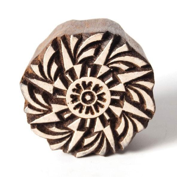 Traditioneller Holzstempel 'Modell C', handgeschnitzt