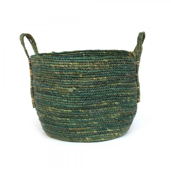 Korb 'Nonna' L, grüngrau, Ø 35 cm, H 30 cm
