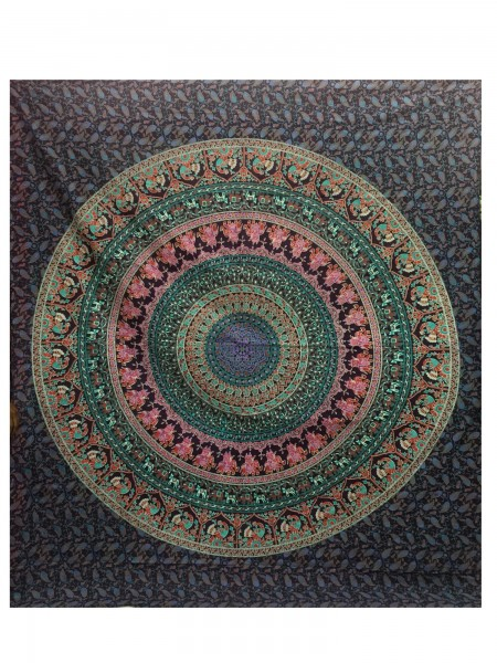 "Tagesdecke ""Kreis"", aus 100% Baumwolle, multicolor, L 220 cm, B 250 cm"