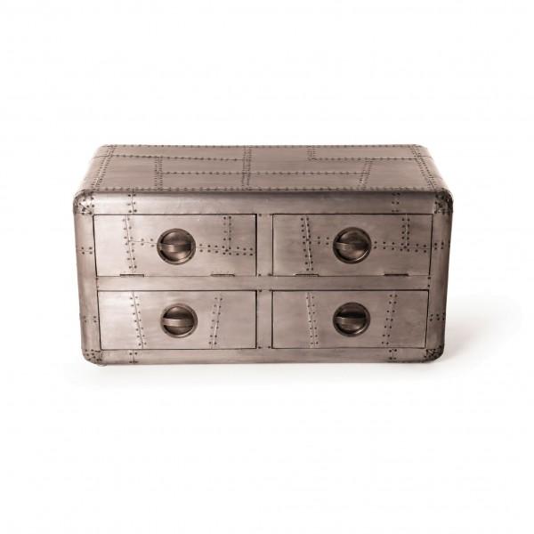 Sideboard 'Buckson', silber, L 50 cm, B 100 cm, H 50 cm