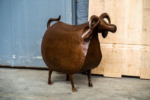 Kuh 'Luise', rostbraun, T 76 cm, B 25 cm, H 63 cm