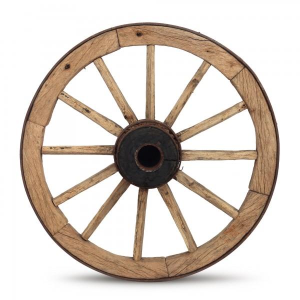 hölzerne Speichenräder, natur, Ø 70-80 cm, H 5 cm