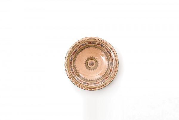 Safiteller mit gewelltem Rand, lachsfarben, H 8 cm, Ø 40 cm
