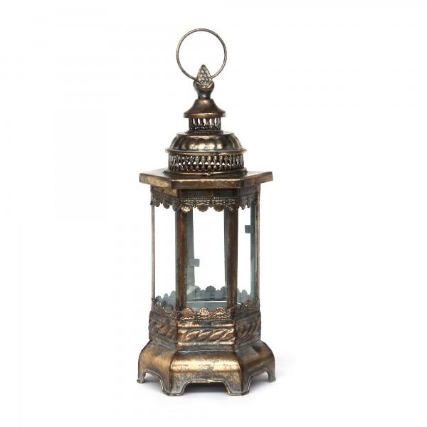 Laterne 'Mindton' S, bronze, T 15 cm, B 16 cm, H 39 cm