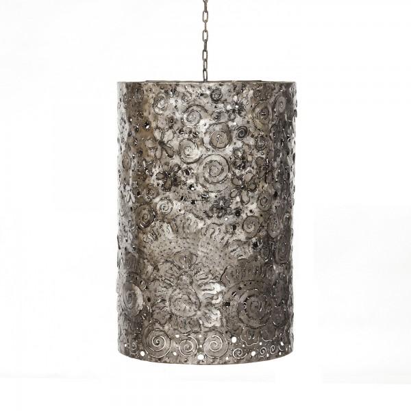 Lampenschirm, silbergrau, Ø 40 cm, H 60 cm
