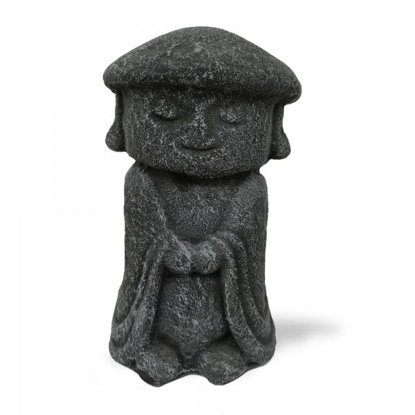 Zementfigur 'Jizo mit Hut', L 13 cm, B 13 cm, H 20 cm