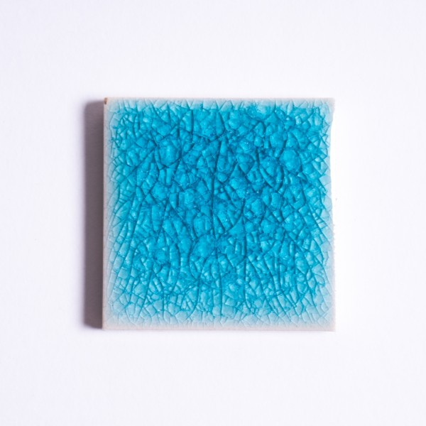 Fliese 'Craquele' blau, L 5 cm, B 5 cm