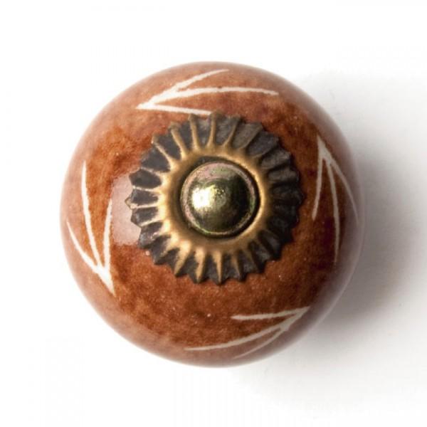Türknauf rund, braun, Ø 4 cm