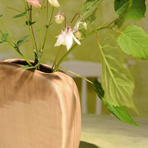 Vase 'Clementa', pink, L 5 cm, B 20 cm, H 20 cm