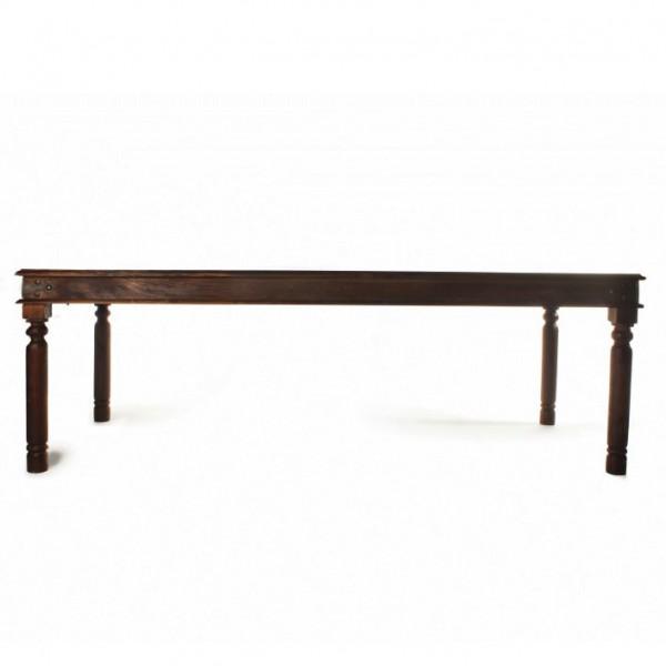 Esstisch, dunkelbraun, L 180 cm, B 90 cm, H 76 cm
