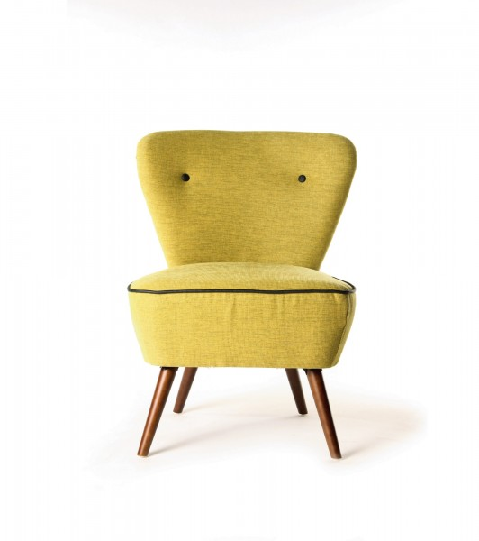 Cocktailsessel 'Mojito', gelbgrün, T 65 cm, B 70 cm, H 84 cm