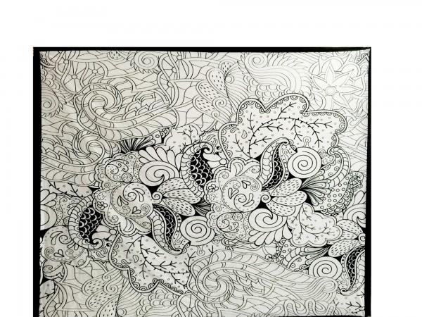 Multifunktionstuch, aus 100% Baumwolle, schwarz/weiß, L 210 cm, B 245 cm