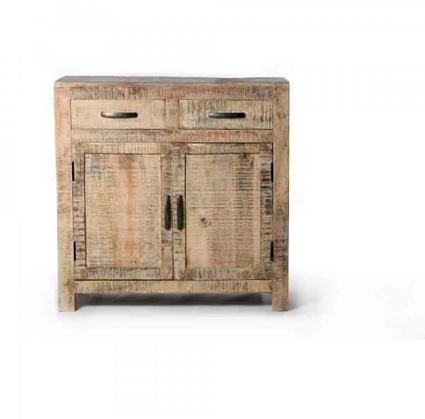 """Kommode """"Wackwolf"""", mit 2 Türen und 2 Schubladen, braun, T 40 cm, B 90 cm, H 90 cm"""