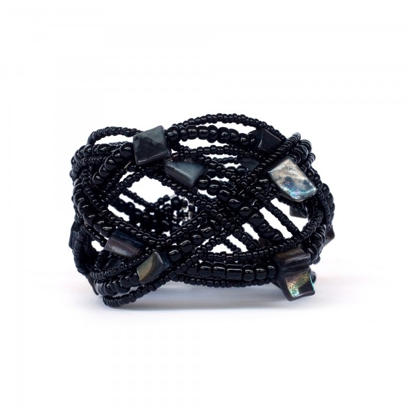 Armband 'Black Tiger', multicolor, Ø 9 cm, H 9 cm