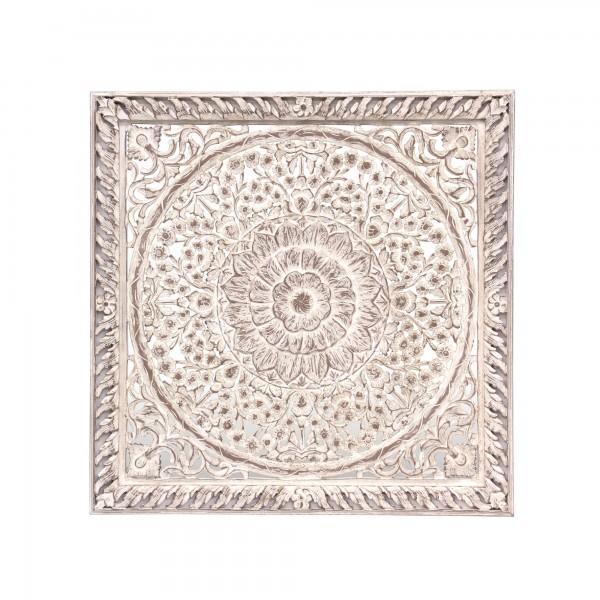 Wandpanel 'Usha', weiß, T 120 cm, B 120 cm, H 4 cm