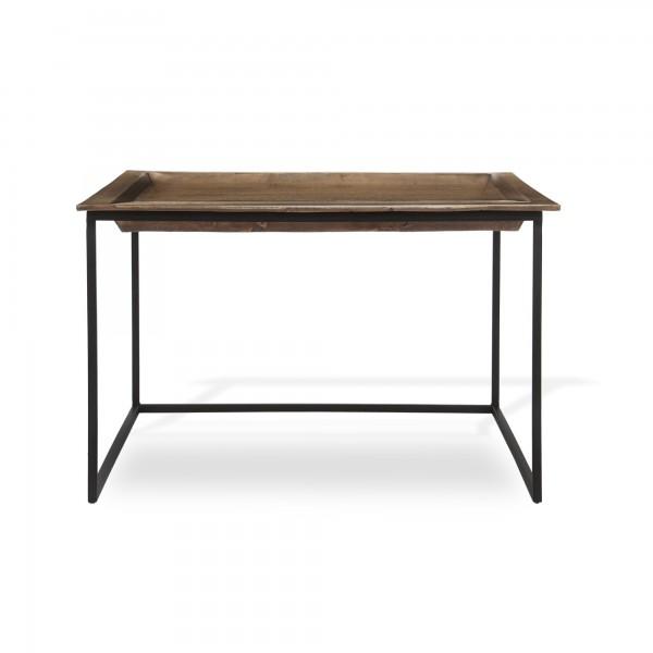 Tisch 'van Gronden', messing, schwarz, T 65 cm, B 65 cm, H 36 cm