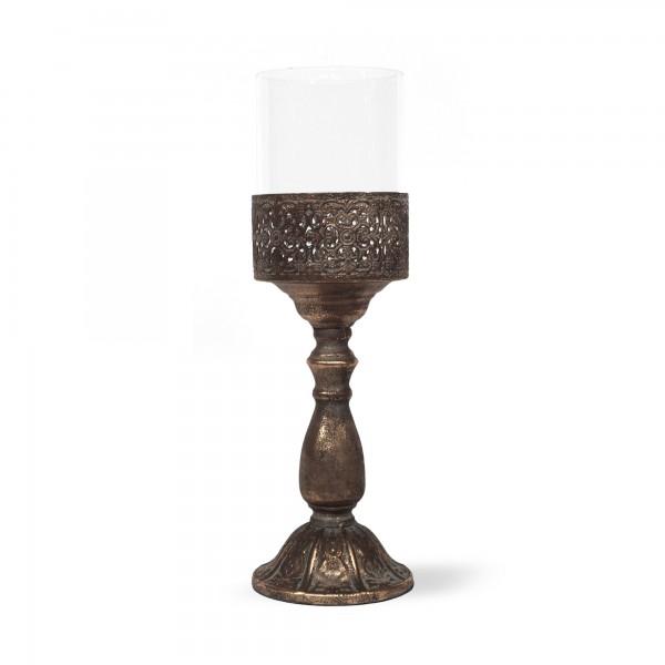 Pokal-Windlicht, H 43 cm, B 13,5 cm, T 13,5 cm