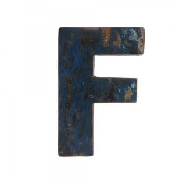 Holzbuchstabe 'F', mehrfarbig, T 2,5 cm, B 13 cm, H 19 cm