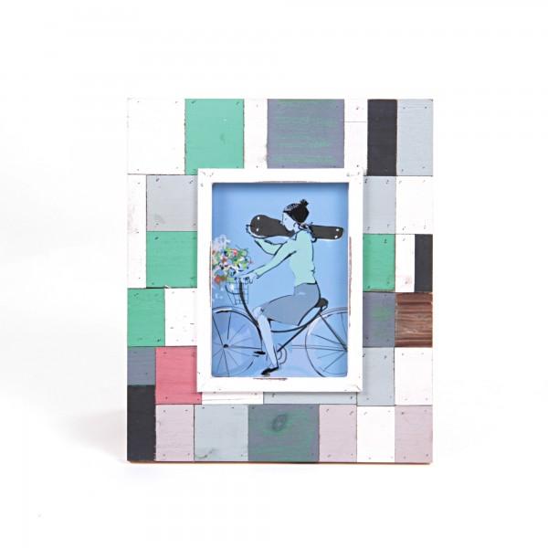 """Bilderrahmen """"Cuxhaven"""", multicolor, L 1,5 cm, B 26,5 cm, H 31,5 cm"""