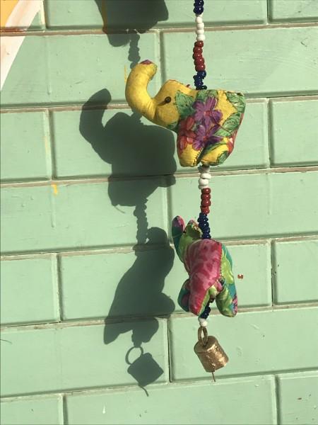 5er Girlande 'Elefanten', multicolor, L 75 cm