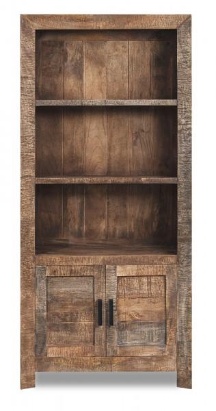 Bücherregal 'Wayland' 2 Türen 3 Fächer, natur, T 35 cm, B 90 cm, H 200 cm