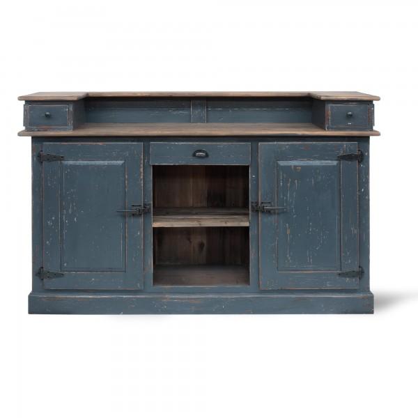 Bartheke 'Foster', grau, natur, T 50 cm, B 180 cm, H 110 cm