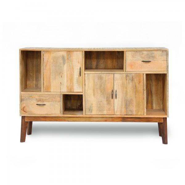 Sideboard 'Berkhood', natur, braun, T 35 cm, B 145 cm, H 91 cm