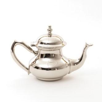 Teekanne, marokkanisch, silber, H 15 cm