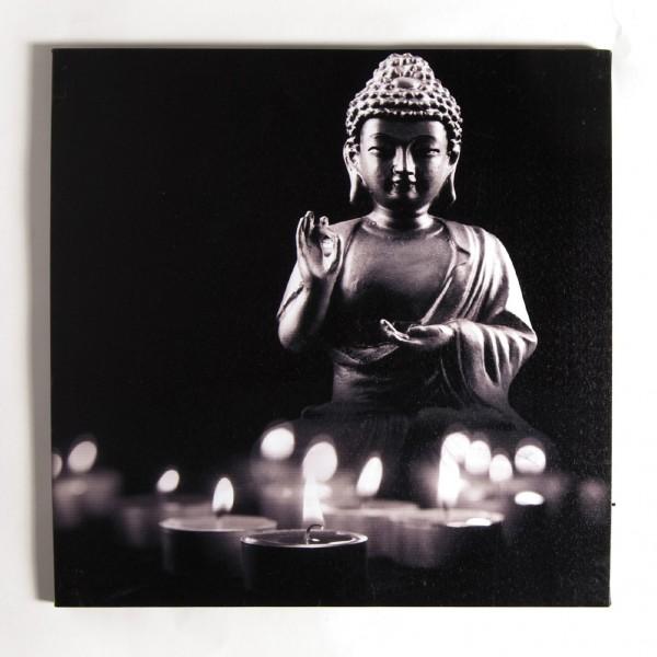 """Kunstdruck auf Leinwand """"Erleuchtung"""", beleuchtet, L 2 cm, B 60 cm, H 60 cm"""