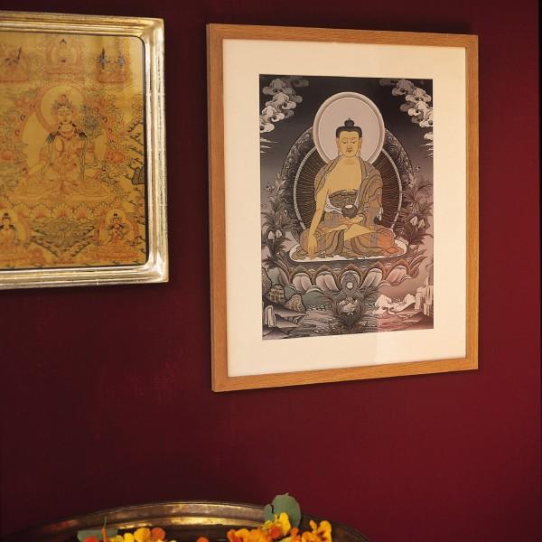 """Thanka """"Buddha Mandala"""", gerahmt, B 52 cm, H 62,5 cm"""