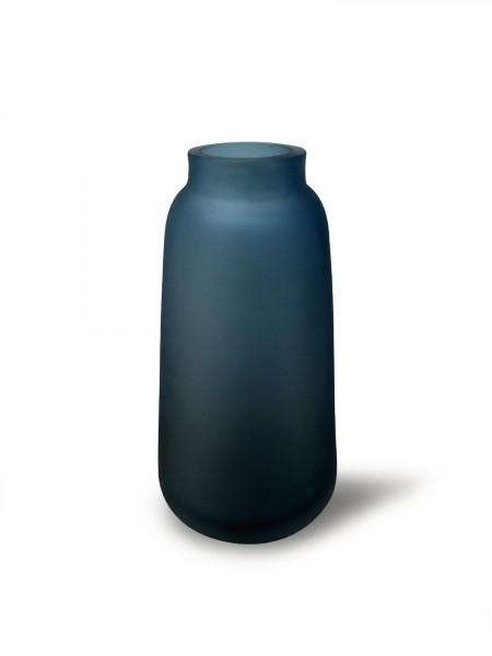 Glasvase 'Dorine', blaugrau, Ø 9 cm, H 17,5 cm