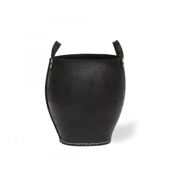 Korb mit Griff Autoreifen S, schwarz, Ø 35 cm, H 40 cm