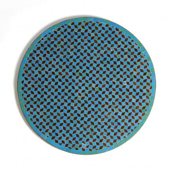 Mosaiktisch rund, grün, H 73 cm, Ø 80 cm
