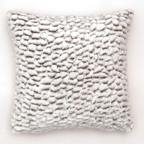 Kissen 'Wellen', weiß, L 45 cm, B 45 cm