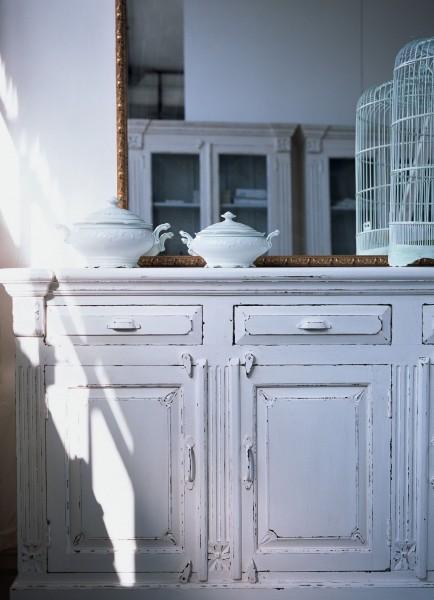 Sideboard 'Landiers', weiß, H 91 cm, B 158 cm, T 42 cm