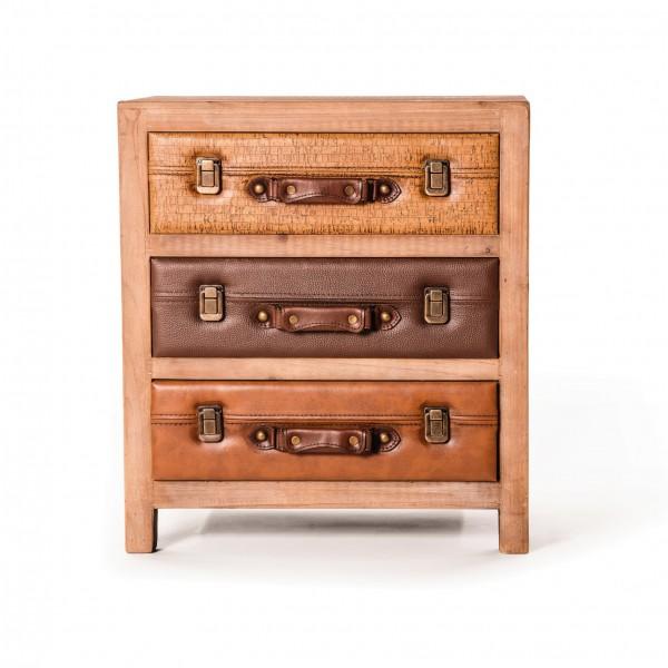 """Kommode """"Luggage"""", mit 3 Schubladen, L 38 cm, B 54 cm, H 60 cm"""