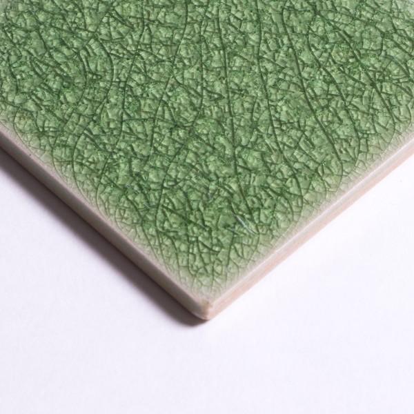 Fliese 'Craquele', limonengrün, L 10 cm, B 10 cm