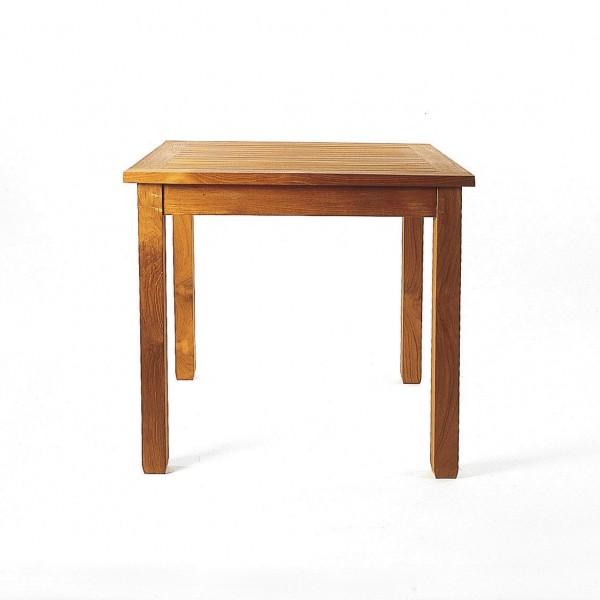 Tisch 'Ansgar' aus Teakholz, natur, L 80 cm, B 80 cm