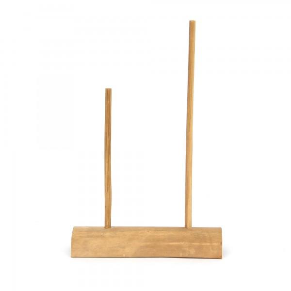 2er Halter für Bambuslibellen, natur, T 18,5 cm, B 6,8 cm, H 28 cm