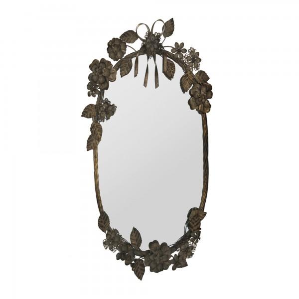 Spiegel 'Lacroix', metall antik, T 5 cm, B 40 cm, H 67 cm