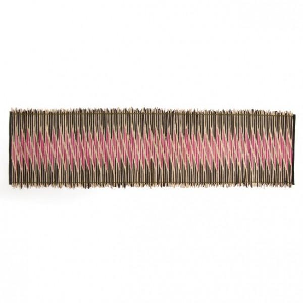 Tischläufer, schwarz/rosa, L 150 cm, B 35 cm