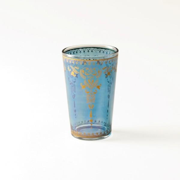 Teeglas, hellblau, H 8,5 cm, Ø 5 cm