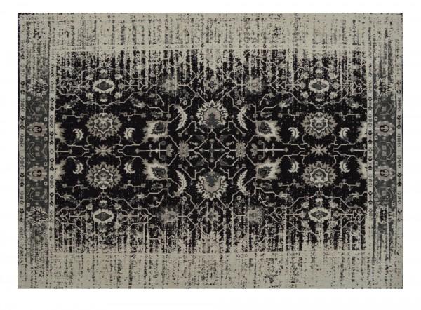 Teppich 'Jain', schwarz, cremeweiß, T 140 cm, B 200 cm