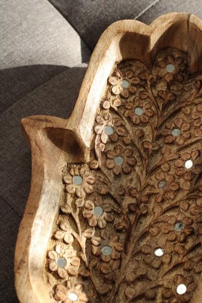 Teller Ablage 'Fatima', natur, T 30,5 cm, B 21,5 cm, H 4 cm