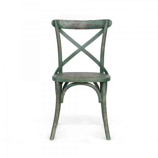 Stuhl 'Cereste', grün, T 46 cm, B 42 cm, H 87 cm